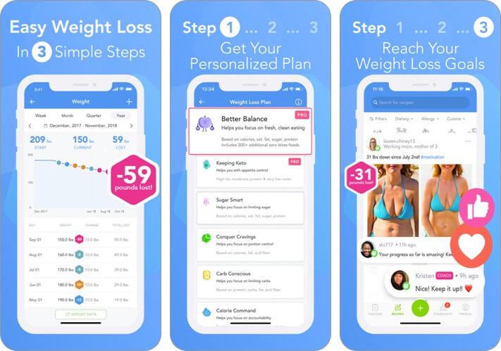 itrackbites iphone and ipad weight loss app screenshot