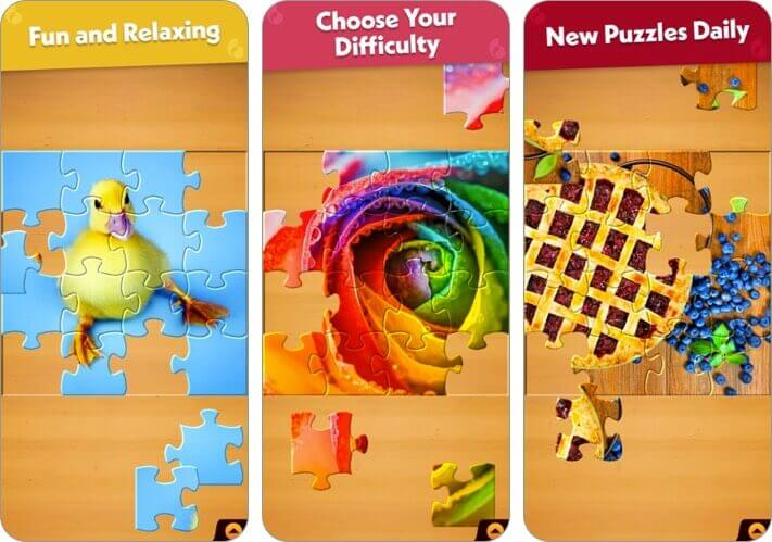 jigsaw puzzle iphone and ipad game screenshot