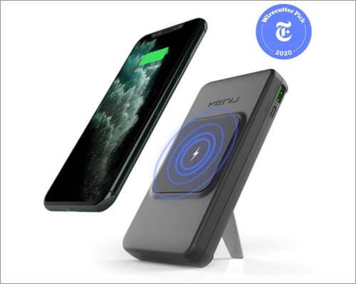 kenu bingebank wireless power bank for iphone 11, 11 pro, and 11 pro max