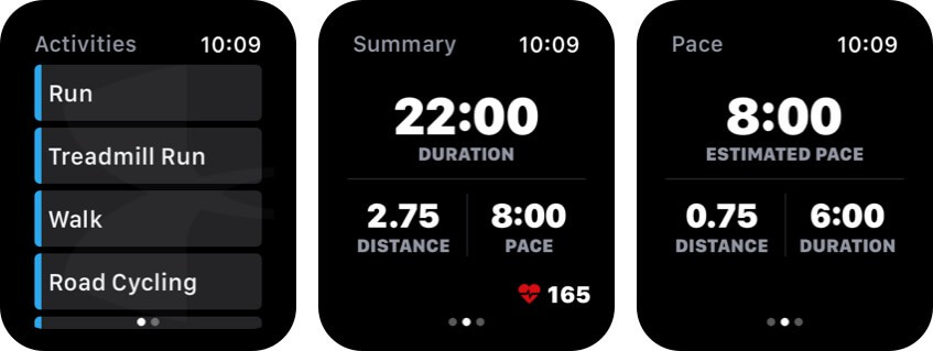map my run apple watch health app screenshot