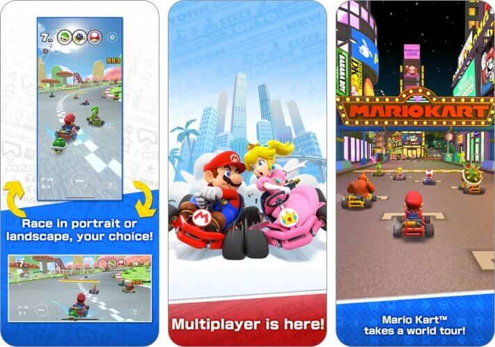 mario kart tour iphone game screenshot