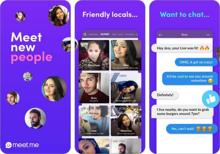 meetme iphone dating app screenshot