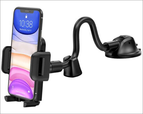 mpow car phone mount for iphone 11, 11 pro, and 11 pro max