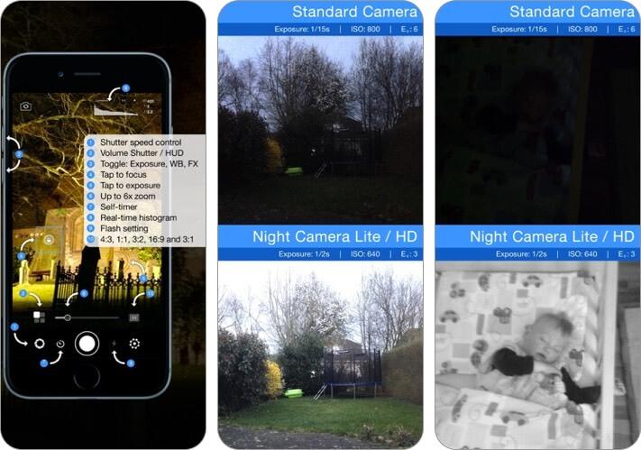 night camera: low light photos iphone and ipad app screenshot