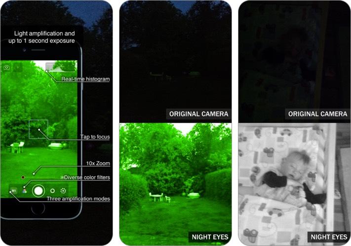 night eyes - night camera iphone and ipad app screenshot
