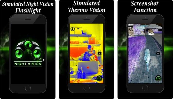night vision flashlight thermo iphone and ipad app screenshot