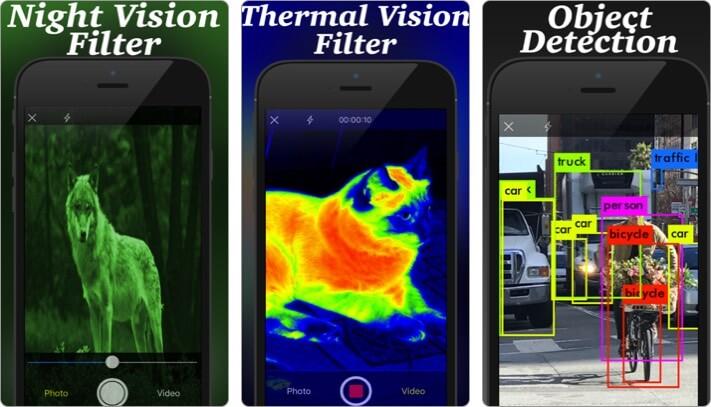 night vision thermal camera iphone and ipad app screenshot
