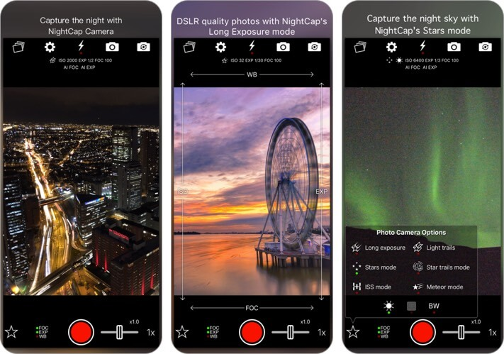 nightcap camera iphone and ipad app screenshot