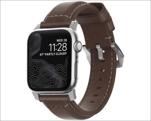 nomad traditional leather band for apple watch series 5