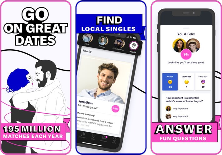 okcupid: online dating iphone app screenshot