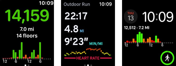 pedometer apple watch health app screenshot