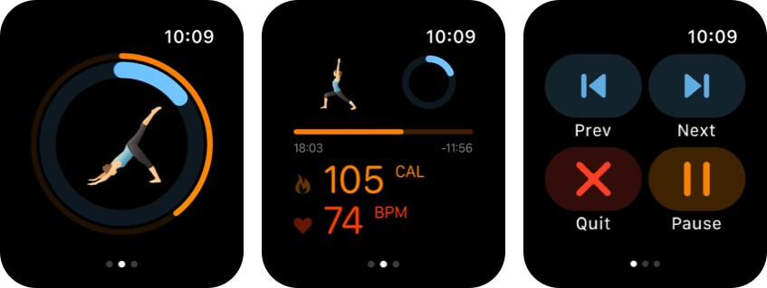 pocket yoga apple watch health app screenshot