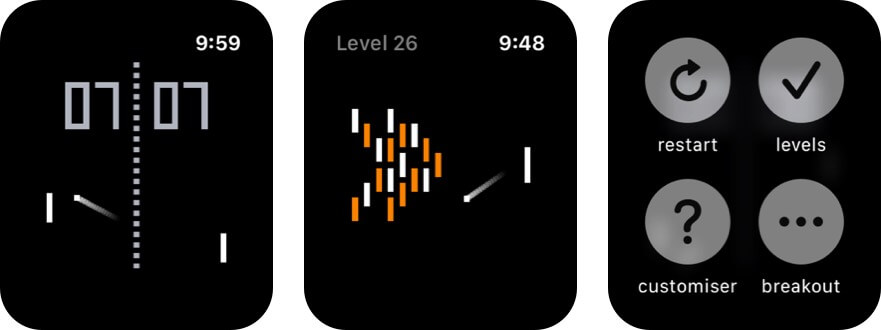 pong for apple watch game screenshot