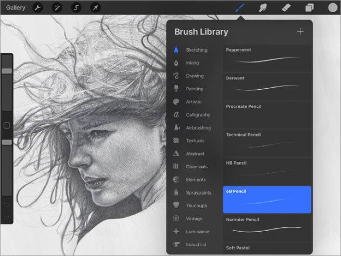 procreate ipad app screenshot