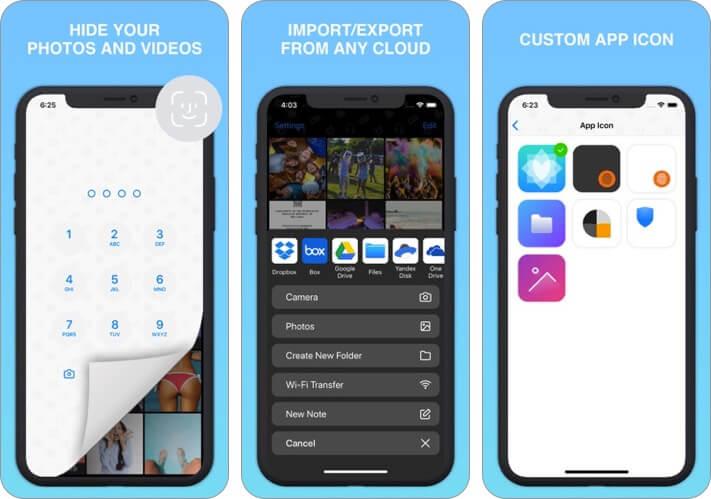 safe lock: screenshot for secret photo album iphone vault app