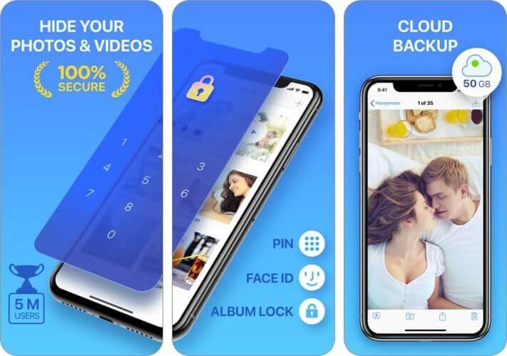 secret photo album: hide screenshot for iPhone app