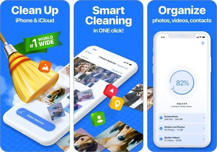 smart cleaner iphone app screenshot