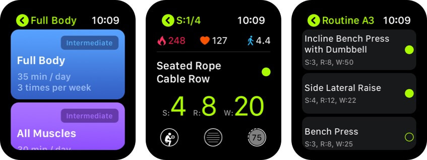 smartgym apple watch health app screenshot