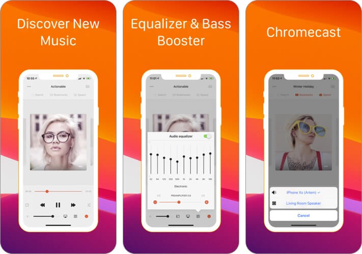 soundy: unlimited music player iphone and ipad equalizer app screenshot