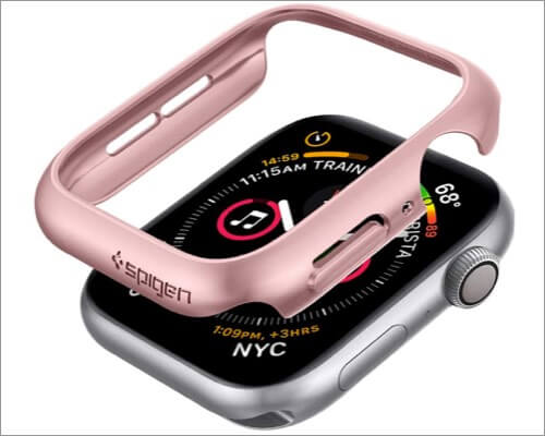 spigen thin fit case for apple watch series 6, 5, 4, and se