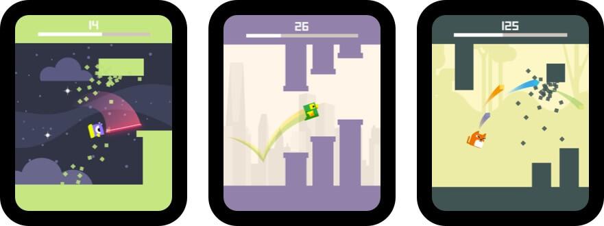 square bird watch - block jump apple watch game screenshot