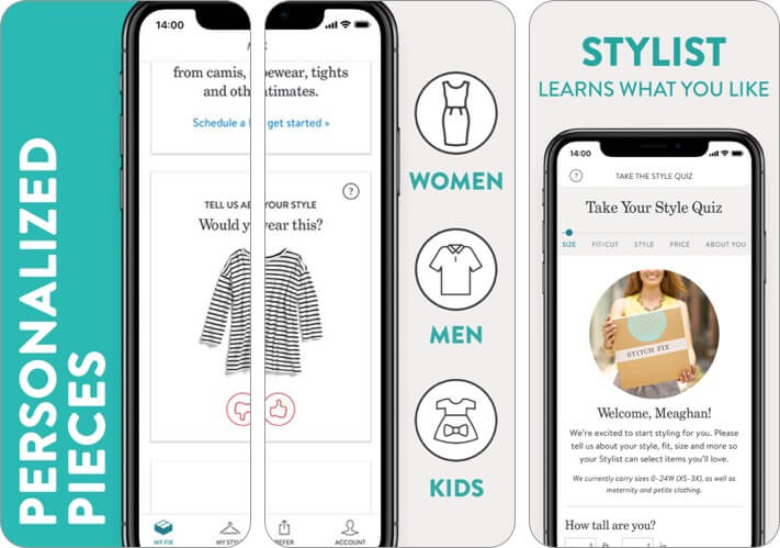 stitch fix - screenshot of personal stylist iphone and ipad fashion app