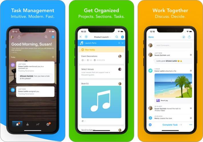 task management: meistertask iphone and ipad team management app screenshot