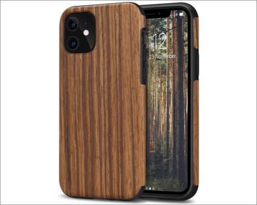 tendlin wood grain case for iphone 11