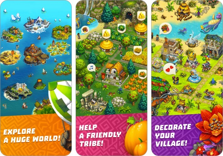 the tribez iphone and ipad city building game screenshot