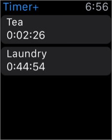 timer apple watch alarm app screenshot