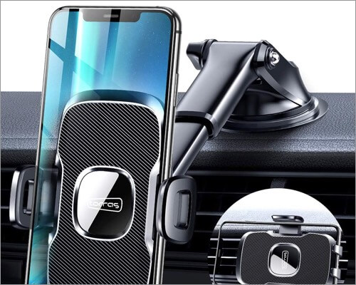 torras car phone holder for iphone 11, 11 pro, and 11 pro max