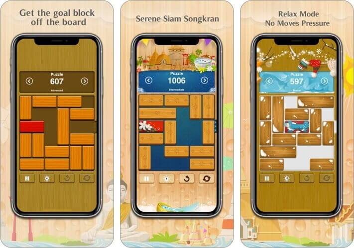 unblock me iphone and ipad puzzle game screenshot