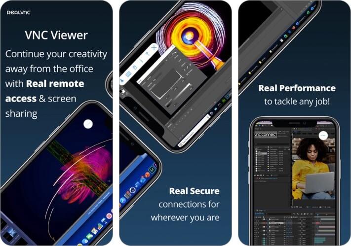 vnc viewer iphone and ipad remote desktop app screenshot