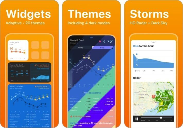 Weather Line iPhone and iPad App Screenshot