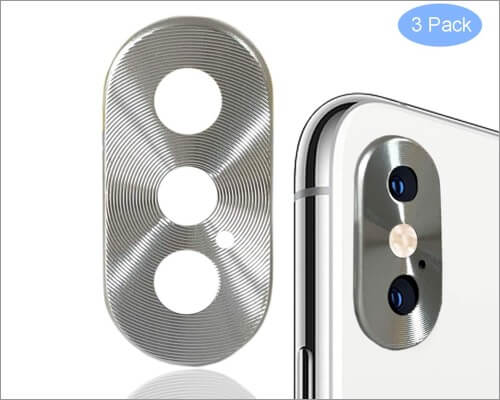wensunnie aluminum camera lens protector for iphone xs and xs max
