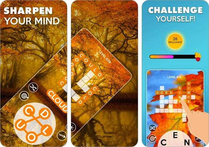 wordscapes iphone and ipad scrabble app screenshot