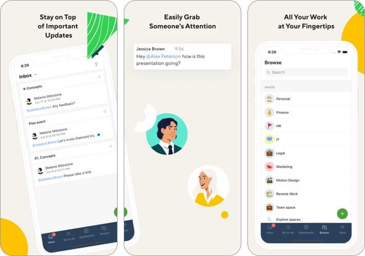 wrike iphone and ipad team management app screenshot