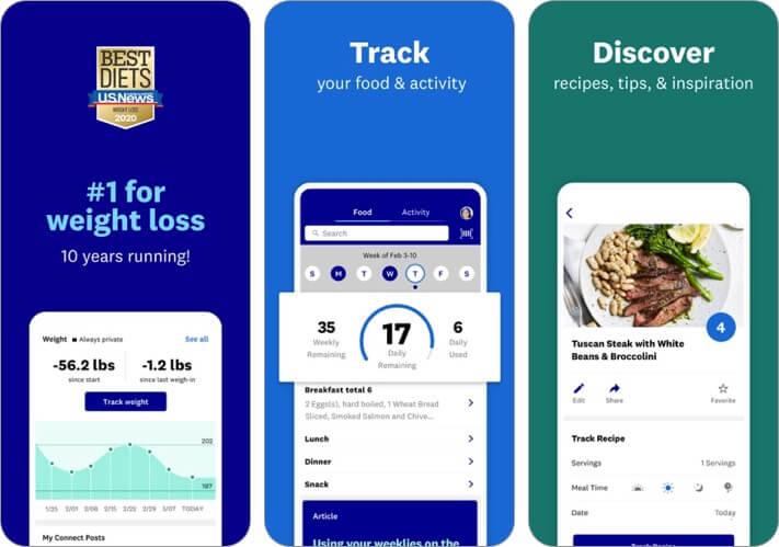ww weight watchers iphone and ipad app screenshot