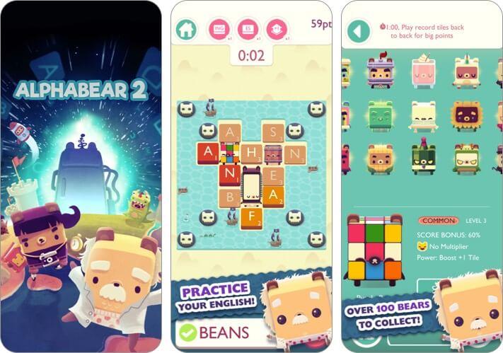 Alphabear iPhone and iPad Word Game Screenshot