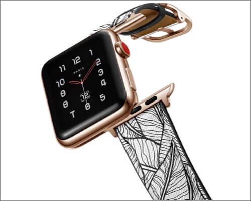 amBand printed leather strap for Apple Watch Series 6, 5, 3 and SE