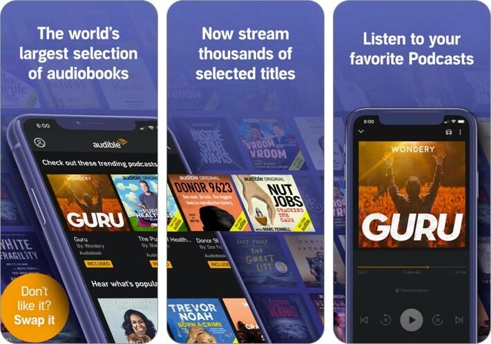 Audible iPhone CarPlay App Screenshot