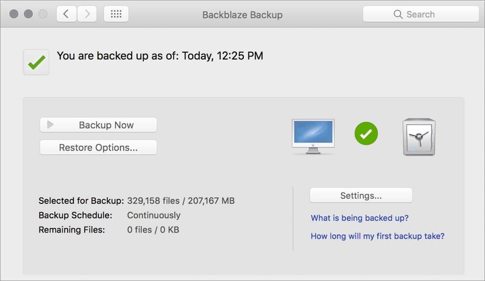 Backblaze Mac Backup Software