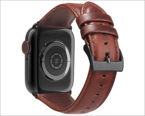 BRG genuine leather strap for Apple Watch Series 6, 5, 3 and SE