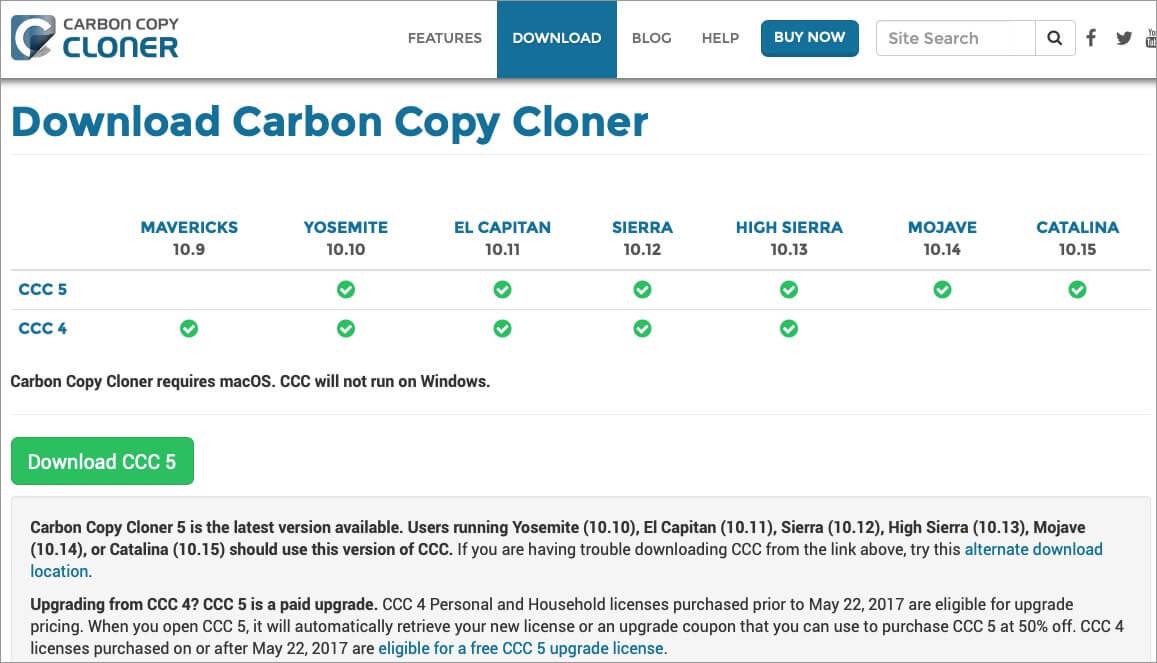 Carbon Copy Cloner Backup Software for Mac