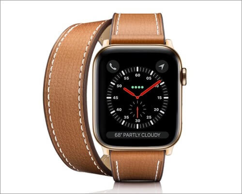 Casetify 2-in-1 Italian leather strap for Apple Watch Series 6, 5, 3 and SE