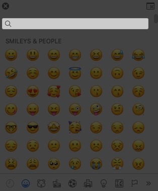 Click on Search in Emoji & Symbols on Mac