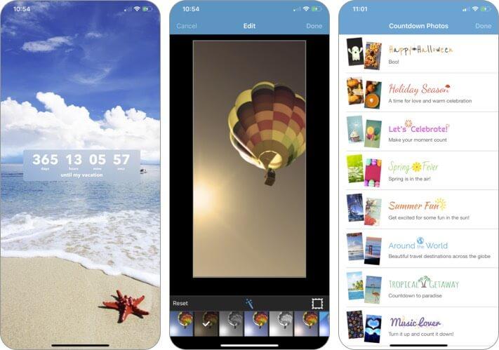 Countdown in Echtzeit Screenshot der iPhone- und iPad-App