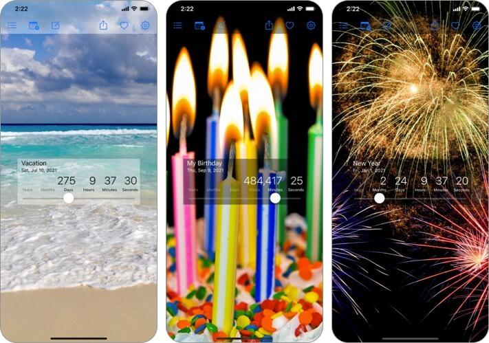 Screenshot der Countdown Star iPhone- und iPad-App
