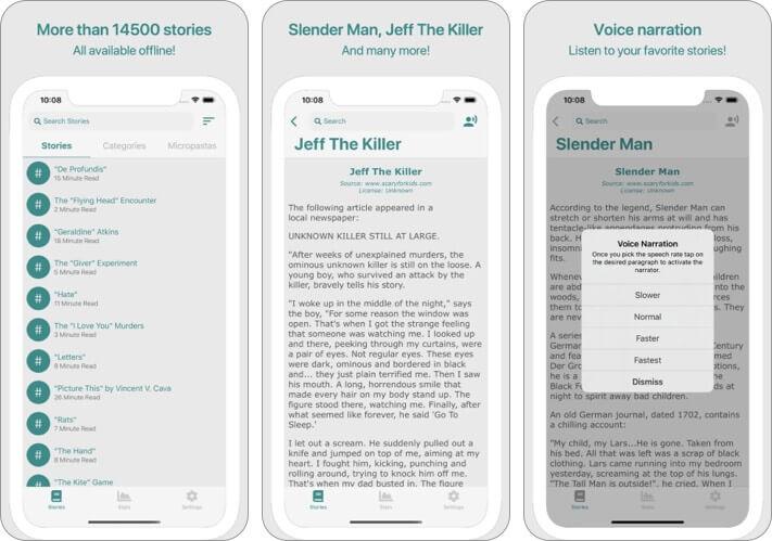 Creepypasta iPhone App Screenshot