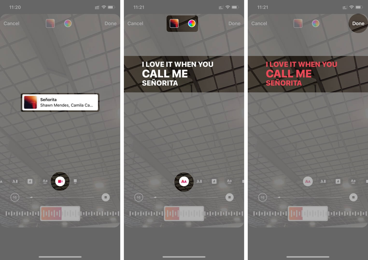 Customize Song Appearance on your Instagram Story